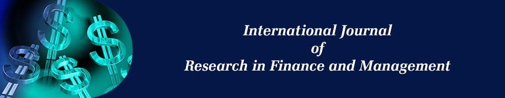 International Journal of Research in Finance and Management
